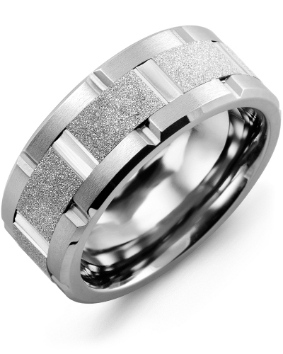 Men's & Women's Cobalt Brush Blades & White Gold Wedding Band