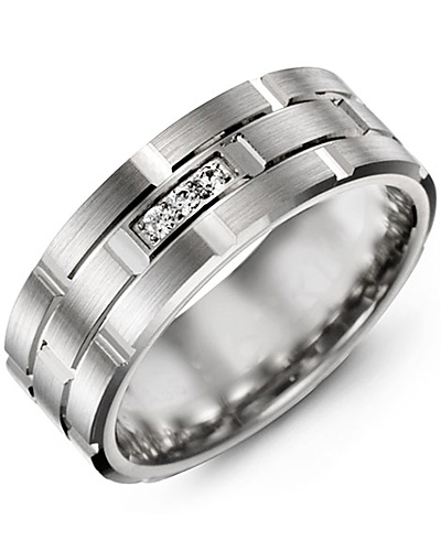 White Gold & White Gold + 3 Diamonds tcw 0.06