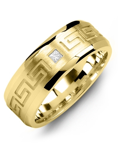 Men S Women Yellow Gold 1 Diamond Tcw