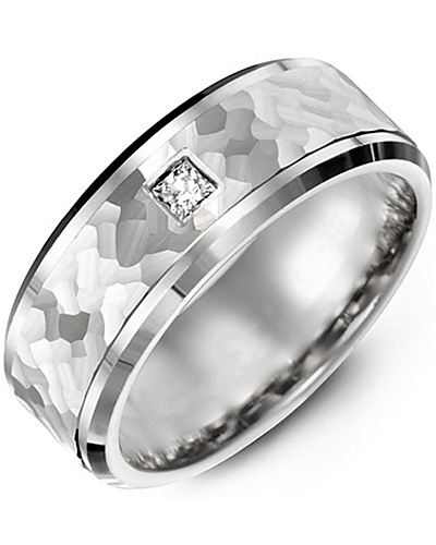 Men's & Women's White Gold + 1 Diamond tcw. 0.07 Wedding Band