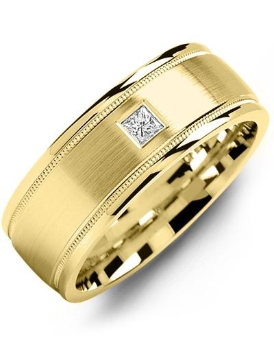 Men's & Women's Yellow Gold & Yellow Gold + 1 Diamond tcw. 0.07 Wedding Band