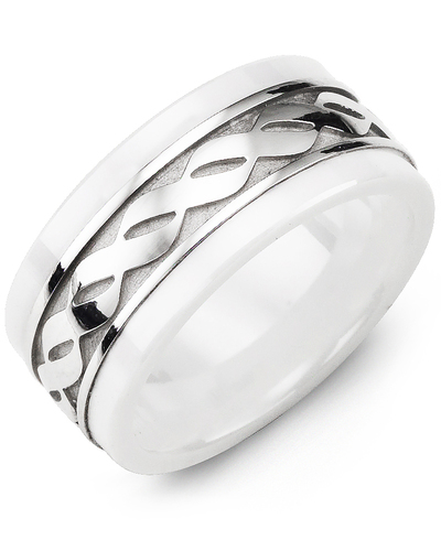 Men's & Women's White Ceramic & White Gold Wedding Band from MADANI Rings. Wedding bands, fashion rings, promise rings, made of Tungsten, Ceramic, Cobalt, and Gold. View the collection at madanirings.com