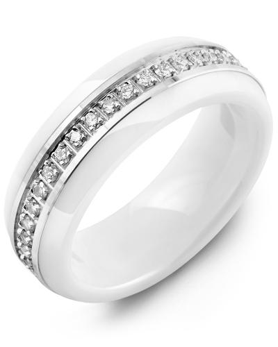 Women's Dome Eternity Diamond Wedding Ring