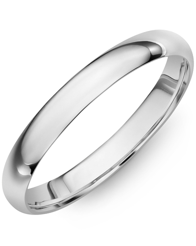 Men's & Women's Dome White Gold Wedding Band