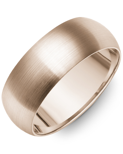 Men's & Women's Dome Rose Gold Wedding Band