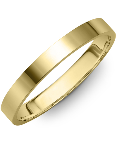Men's & Women's Flat Yellow Gold Wedding Band from MADANI Rings. Wedding bands, fashion rings, promise rings, made of Tungsten, Ceramic, Cobalt, and Gold. View the collection at madanirings.com