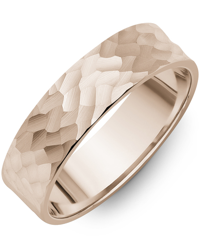 Men's & Women's Flat Rose Gold Wedding Band