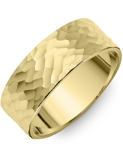 Men's & Women's Flat Yellow Gold Wedding Band