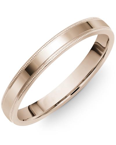 Men's & Women's Flat Rose Gold Wedding Band