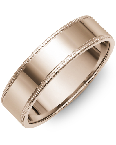 Men's & Women's Flat Rose Gold Wedding Band from MADANI Rings. Wedding bands, fashion rings, promise rings, made of Tungsten, Ceramic, Cobalt, and Gold. View the collection at madanirings.com