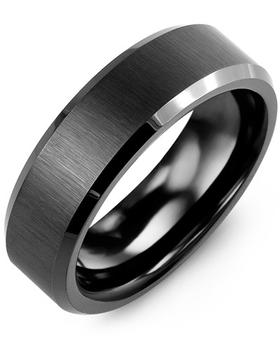 Men's & Women's Black Ceramic Wedding Band from MADANI Rings. Wedding bands, fashion rings, promise rings, made of Tungsten, Ceramic, Cobalt, and Gold. View the collection at madanirings.com