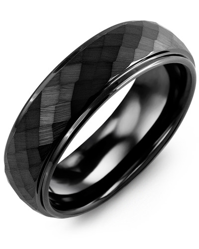 Men's & Women's Black Ceramic Wedding Band