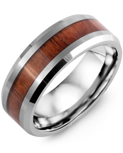 Men's & Women's Tungsten & Koa Wood Wedding Band