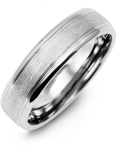 Men's & Women's White Gold Wedding Band from MADANI Rings. Wedding bands, fashion rings, promise rings, made of Tungsten, Ceramic, Cobalt, and Gold. View the collection at madanirings.com
