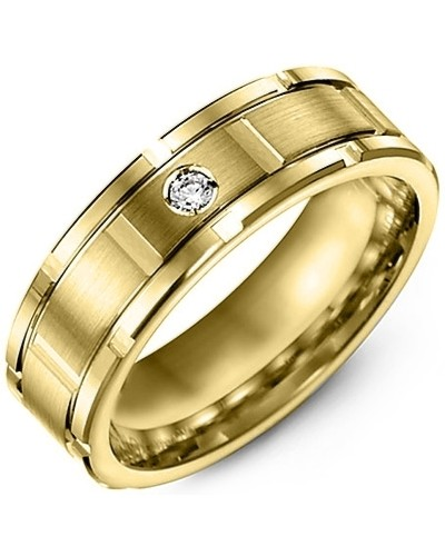 KARAT R-DIAMOND from MADANI Rings. Wedding bands, fashion rings, promise rings, made of Tungsten, Ceramic, Cobalt, and Gold. View the collection at madanirings.com